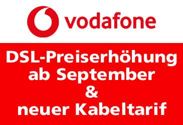 Vodafone: DSL-Preiserhöhung und neuer Kabeltarif