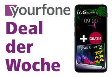 yourfone Deal der Woche: LG G8s ThinQ und gratis 4K Smart-TV