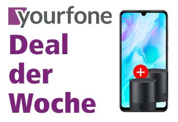yourfone Deal der Woche: Huawei P30 lite mit zwei gratis Mini Speaker