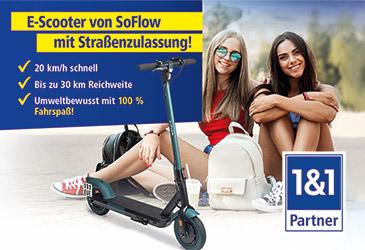 TK-World Händlerkarte: 1&1 All-Net-Flat mit eScooter für Ihr Ladengeschäft