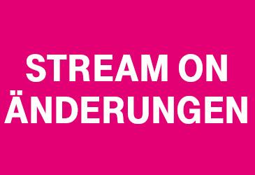 Telekom StreamOn: Anpassungen ab kommender Woche