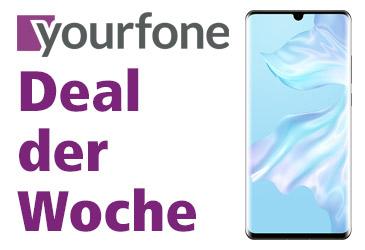 yourfone Deal der Woche: LTE-Tarif mit kostenlosem Huawei P30 Pro