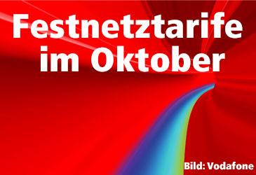 Vodafone und Unitymedia Festnetztarife im Oktober