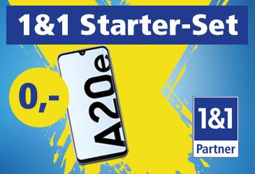 1&1 Starter-Set: Smartphone-Komplettpaket ab 9,99 €