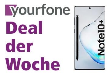 yourfone Deal der Woche: Samsung Galaxy Note10+ kostenlos im yourfone LTE-Tarif
