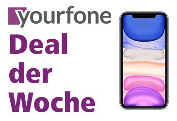 yourfone Deal der Woche: iPhone 11 im LTE-Tarif ohne Einmalzahlung