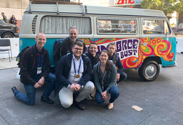 TK-World mit ROBIOTIC und H+K auf der Salesforce Dreamforce in San Francisco