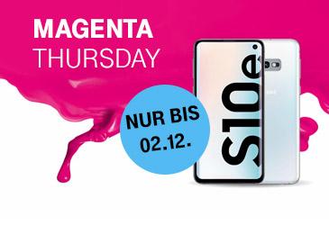 Magenta Thursday: Samsung Galaxy S10e zum Aktionspreis