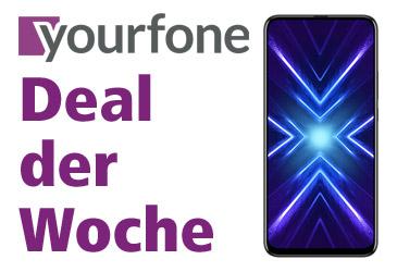 yourfone Deal der Woche: HONOR 9X im LTE-Tarif ab 11,99 €
