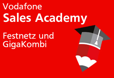 Jetzt anmelden! Vodafone Sales Academy bei der TK-World