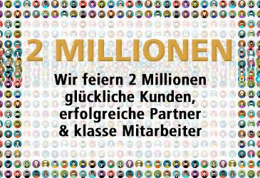 Wir freuen uns über 2 Millionen TK-World Aufträge!