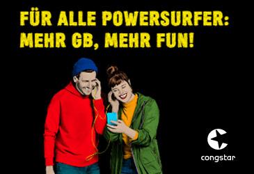 Neues congstar Mobilfunkportfolio mit bis zu 15 GB