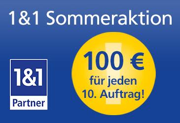 TK-World Sommeraktion für 1&1 Partner: 100 € Bonus im Juli