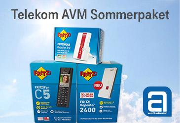Telekom AVM Sommerpaket: Sichern Sie sich 3 kostenlose AVM Geräte
