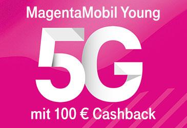 100 € Cashback für und Young-Vorteil bei der Telekom