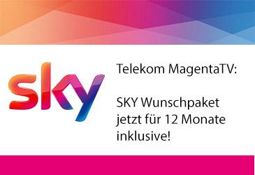 Telekom MagentaTV: Sky Paket 12 Monate inklusive