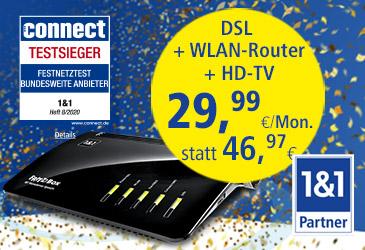 1&1 Best of DSL: DSL im besten Netz mit brillantem HD-Fernsehen