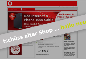Abstellung unseres Vodafone Shops Ende August