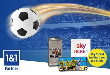1&1 All-Net-Flat: Sky Ticket im Wert von 359 € inklusive