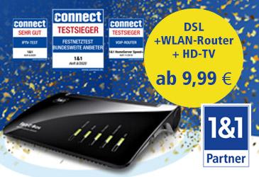 1&1 Best of DSL jetzt schon ab 9,99€/Monat