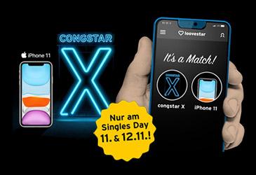 Zum Singles Day: congstar X mit iPhone 11 zum reduzierten Preis