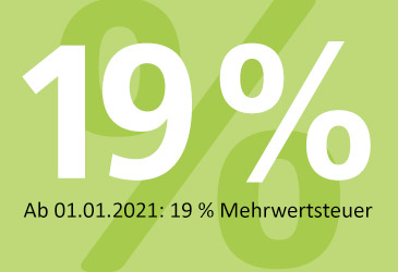 Mehrwertsteuer wieder zurück bei 19 %