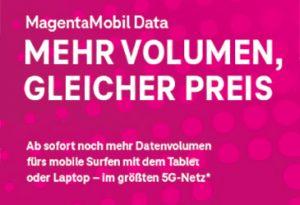 MagentaMobil Data – neue mobile Datentarife für Ihre Kunden!