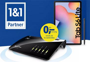 Neue 1&1 DSL-Aktion mit Samsung Galaxy Tab S6 und gratis Webcam