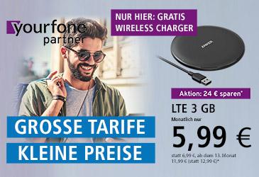 Jetzt yourfone Vertriebspartner Plus werden und gratis Wireless Charger zum yourfone Tarif anbieten
