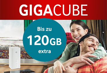 Vodafone Gigacube: jetzt bis zu 120 GB extra